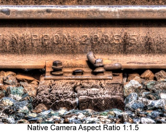 Railroad Rail:  Industrial art photography prints for home or office wall decor.