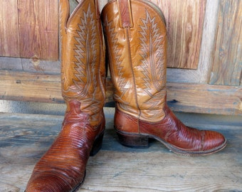 LIZARD COWGIRL BOOTS by Dan Post 7 stitch quality, Women's Size 10