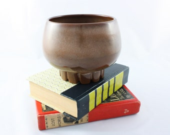 Vintage Frankoma Planter #235 Satin Brown Glaze