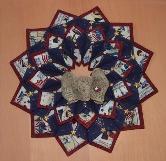 Www Fotoventasdigital Com Diy Burlap Wreath That Folding: Patriotic Fold'n Stitch Wreath