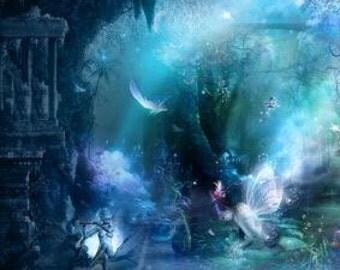 COMING SOON Teal Fairy inspired merino wool DE dreadlocks
