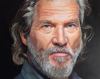 The Dude, Original Oil Painting of Jeff Bridges
