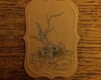 Mini tree drawing.