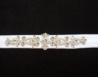 Wedding sash belt, Rhinestone Bridal Sash, Crystal Wedding Sash Belt, Rhinestone Belt