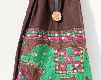 Bag - elephant pattern