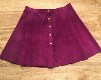 Purple suede vintage skirt