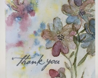 Card - thank you, blank inside A2