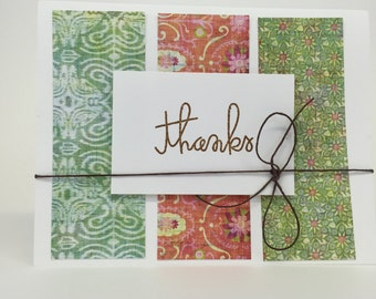 Card - Thanks patterned paper A2 - no two alike