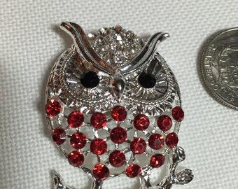 Crystal Bling Owl Needle Minder