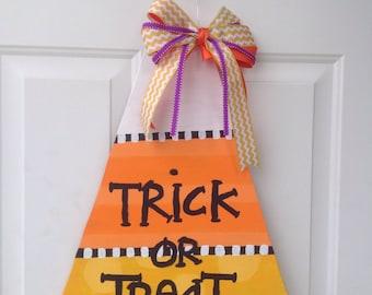 Trick or Treat Candy Corn Door Hanger