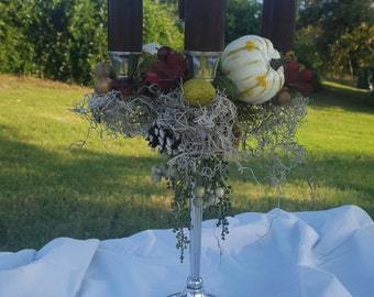 Fall Foliage Candelabra