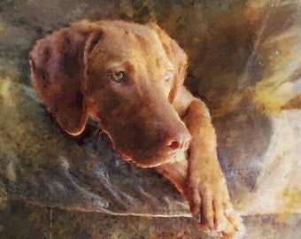 A Custom Hand-Painted Portrait of your Dog.Art and Collectibles. Painting  Oil  portrait from photos. custom pet portrait. painting pet,best