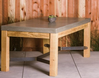 Concrete Outdoor Indoor Table Furniture Dining Set