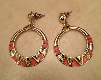 80s Dangle Hoop Earrings