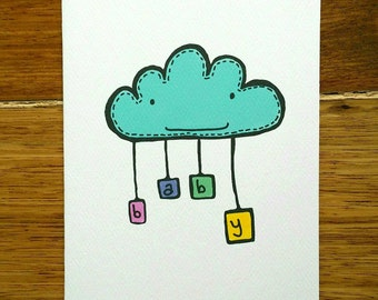 Baby Cloud Card