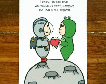Space Love Card