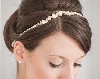 Pearls Headband/ Bridal Headband/Wedding Headband/Bridal Hair Accessories/Swarovski Headband