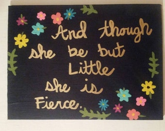 Shakespeare Quote Canvas Painting