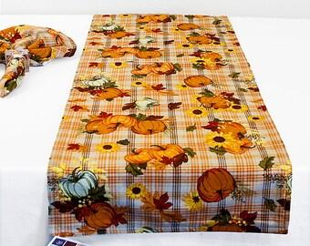 Fall Table Runner, Autumn Table Runner, Pumpkin And Sunflower Table Runner,  Fall Mantle
