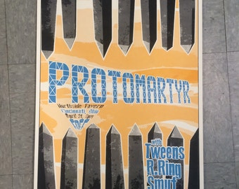 PROTOMARTYR Screen Printed Poster Tweens R. Ring