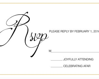 Classic Wedding RSVP Postcard