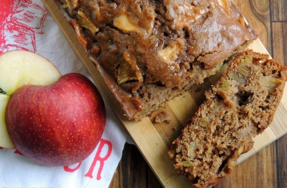 Whole Wheat Apple-Walnut Chai Bread by HappyBakeShop on Etsy