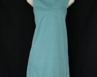 A-line mint dress/ lighter dots