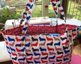Handmade lined day bag
