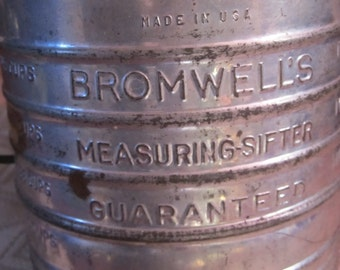 Vintage Bromwell Flour Sifter 5 Cup Kitchen Sifter Blue/Green Handle and Knob-Marked down from 20.00 thru 2/29