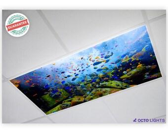 Fluorescent Light Covers - Ocean 001