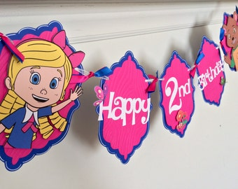 Goldie and Bear Birthday Banner / Goldie and Bear Name Banner / Goldie and Bear party / Disney's Goldie and Bear