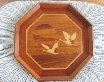 Inlay Wood with Geese Vintage Philippines