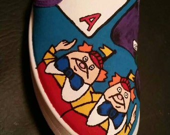 Alice In Wonderland Hand painted Shoes