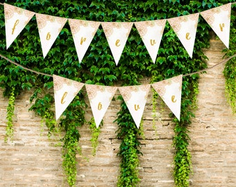 Custom Banner Sign (Vol. 1) / Triangle Bunting Banner / Customizable / Printable / Digital Download / DIY Wedding Decor Styling