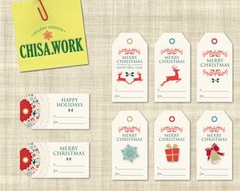 Christmas Gift Tags - HAPPY