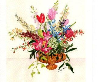 Bouquet of Flowers Watercolor