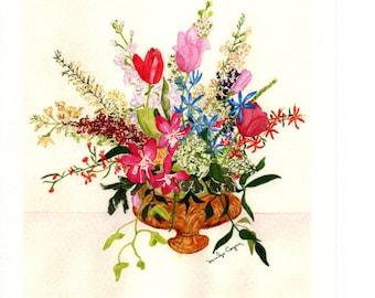 Bouquet of Flowers Watercolor