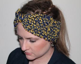 collegiate knitted headband.