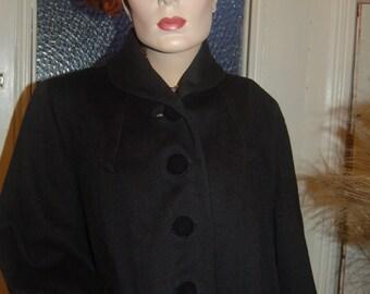 The Vintage Velvet Accent Wool Coat