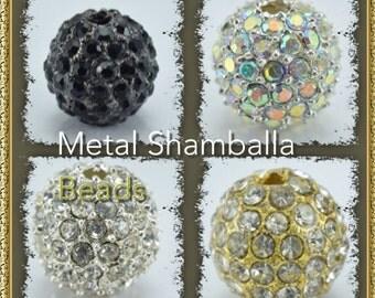 12mm Shamballa Rhinestone Ball Beads,Bling beads, Rhinestone beads,Metal beads, bracelet beads, handmade beads,Beads
