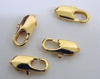 Gold Filled Lobster Clasp Size 5x10mm 18K Gold Filled Findings for gold filled jewelry making GF0102