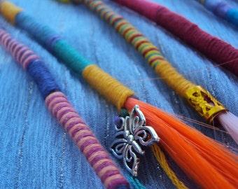 Handmade Hair Wraps ~ Hair Extensions ~ Dreadlock Accessories