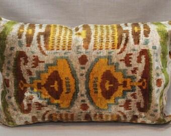 Velvet Ikat Pillow Cover-14''x22''Soft Decorative Sofa Pillow Designer Throw Pillow Soft Pillow Cover Home And Decor Throw Pillow Sofa