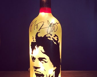 Mick Jagger wine bottle light