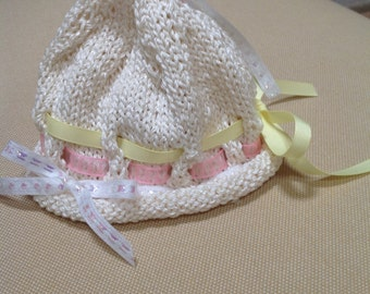 how to make a baby shower ribbon hat