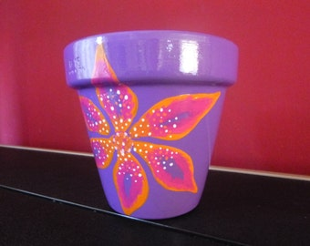 Beautiful Handpainted Terracotta Plant Pot