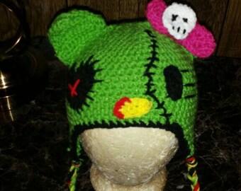 Zombie Hello Kitty Beanie