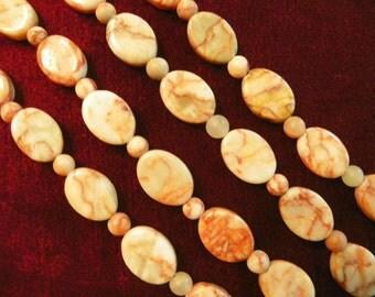 Redline Marble Bead Bracelet