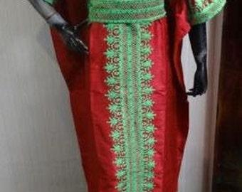 Embroidery Brocade Dress