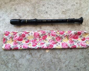 Pink Floral - Recorder Case